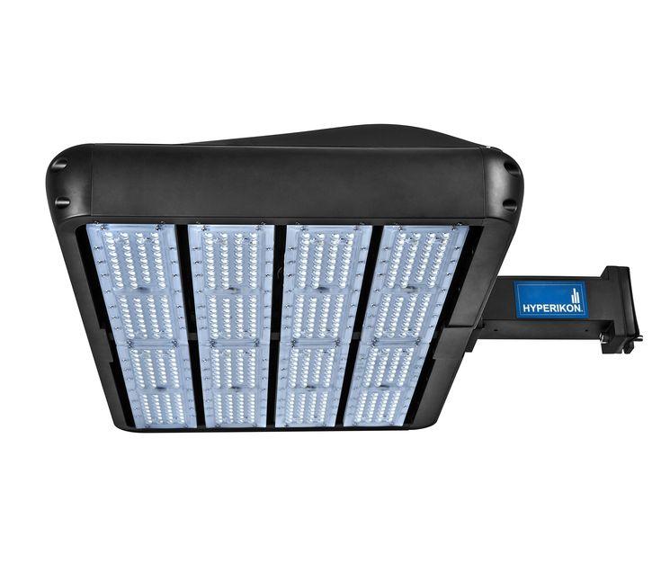 Hyperikon LED Shoebox Pole Light 480W (HID/HPS Replacement) 5700K, 64,800 lumen, Direct Wiring AC 100-277V, Street Parking Lot Lights, Free Photocell Included, IP65, UL