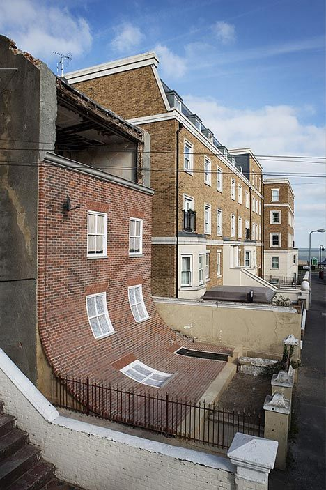 From the Knees of my Nose to the Belly of my Toes by Alex Chinneck