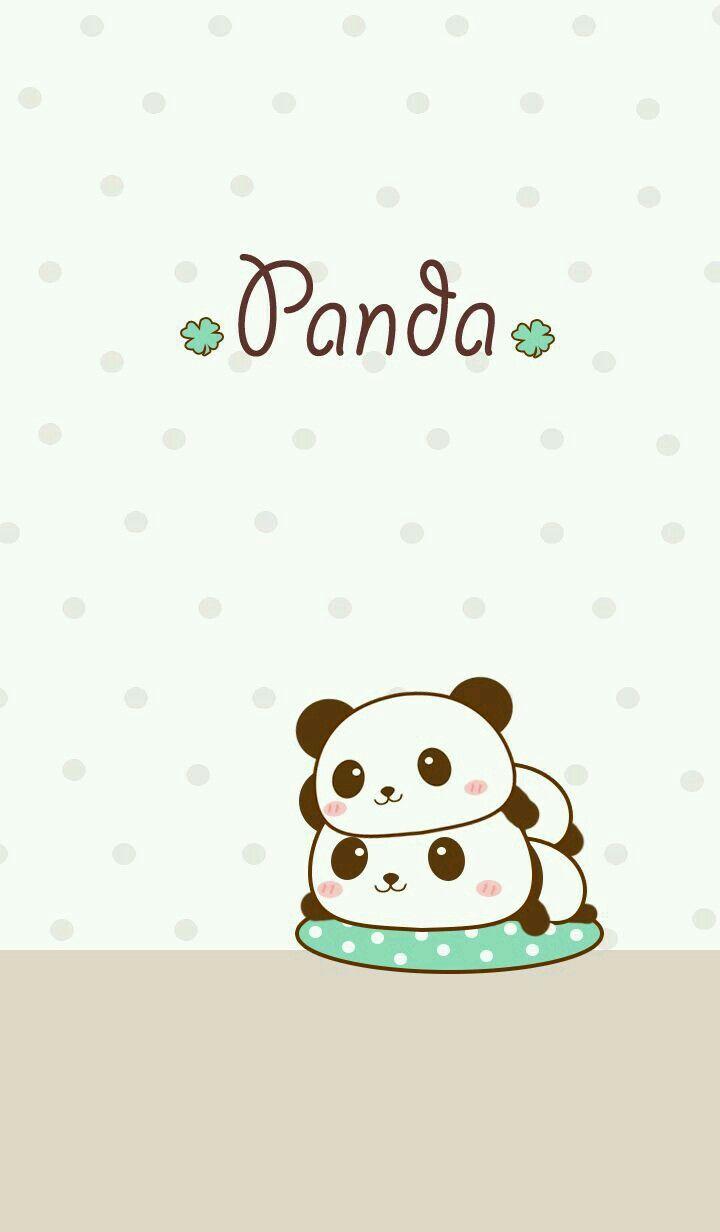 Chibi Panda Phone Wallpaper