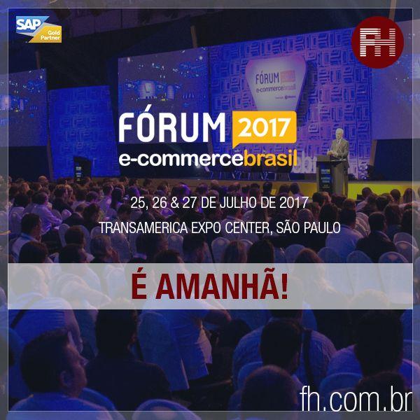 Amanhã começa a 8ª edição do Fórum E-commerce Brasil 2017 no Transamerica Expo Center em São Paulo e a FH estará presente em parceria com a SAP! Você poderá conhecer todas as nossas soluções para o comércio eletrônico, visitando o espaço da FH no Fórum. Não perca! Te aguardamos no estande da SAP!