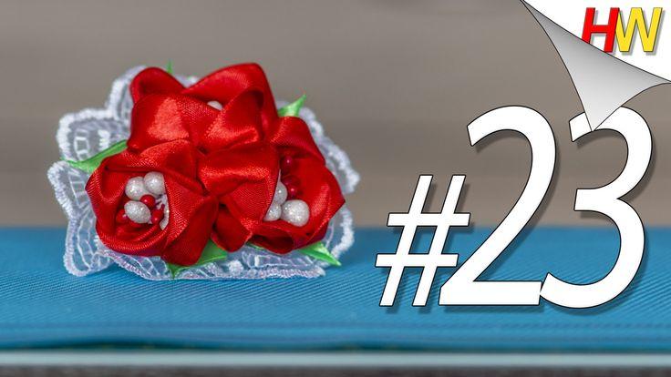 """Канзаши для начинающих.""""Тюльпаны """"Канзаши"""". Обучение.Урок № 23./Tulips k..."""