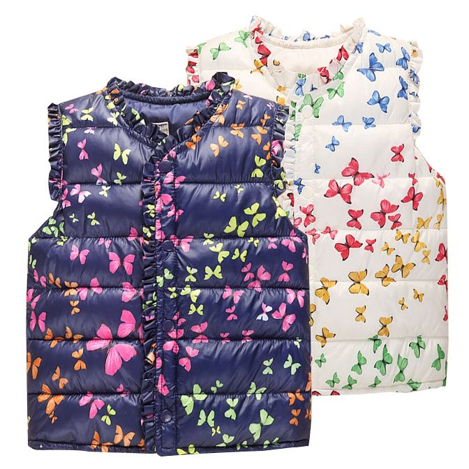 Cheap vest white, Buy Quality jacket fall directly from China vest leopard Suppliers: 6-Style Autumn&Winter Sweet Floral Children's Girls Jackets Cotton Warm Kids Vest For Girl Waistcoat Children Outerwear Clothing