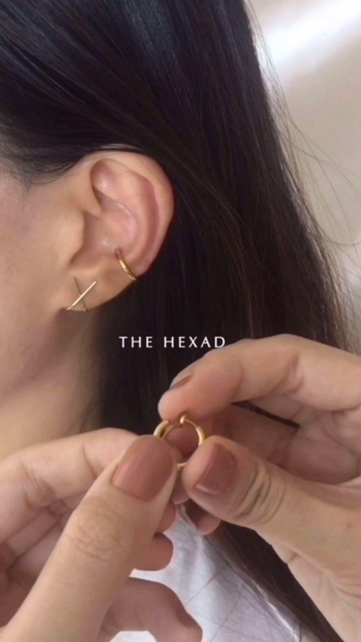 RETRACTABLE Hoops in Gold Sie möchten den Conch Hoop rocken, ohne sich ins Ohr zu stechen? …   – Hairstyle