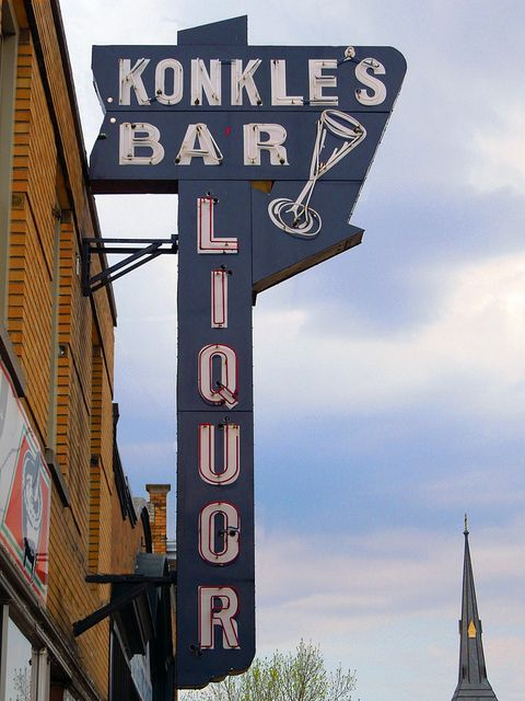Konkel's Bar - Liquor vintage sign -Grand Rapids, MI