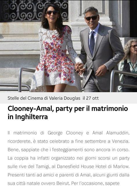 SiGiGossip: George Clooney e Amal Alamuddin