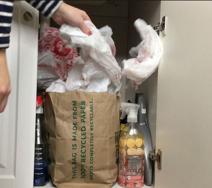 After seeing how she organizes her plastic bags, I will never store mine the same way again!
