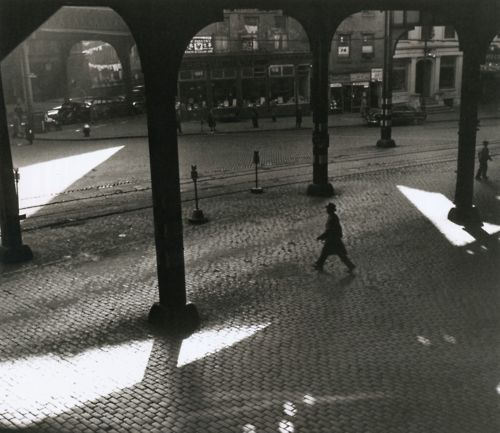 Rebecca Lepkoff    Third Avenue El and Chatham Square, circa 1940s    FromLife on the Lower East Side: Photographs By Rebecca Lepkoff, 1937-1950