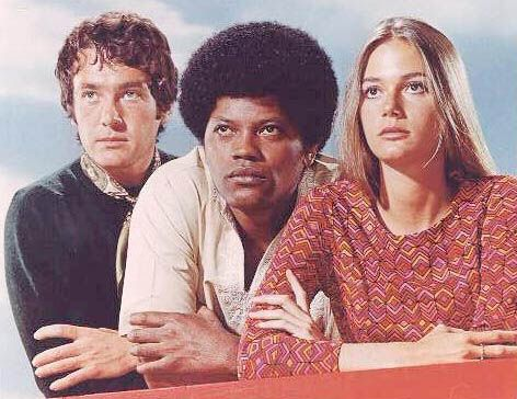 The Mod Squad (1968-1973) - Cast and history: http://www.imdb.com/title/tt0062589/  Theme music: http://www.youtube.com/watch?v=A3izQxA3hGk