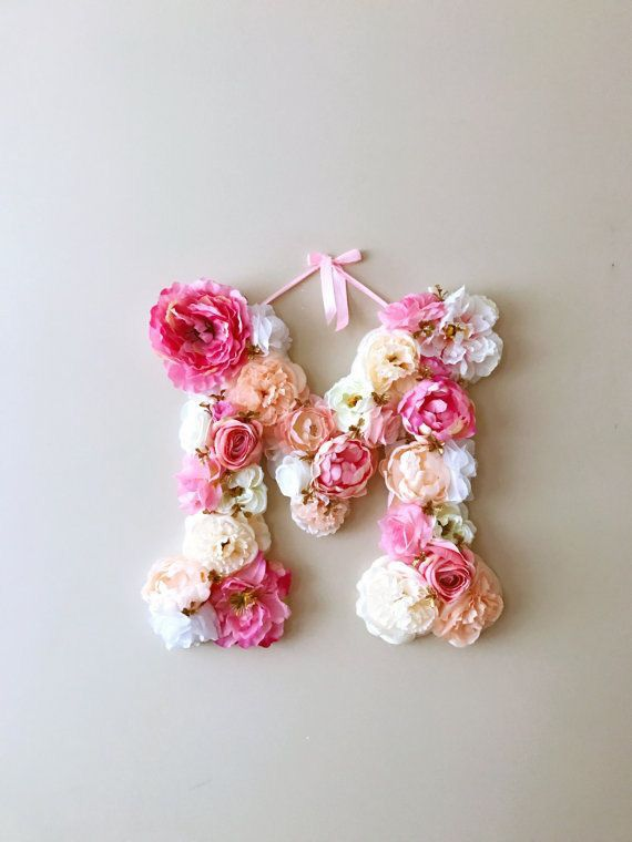 Pin By Eleni Protopapa On Flowers Floral Letters Flower Letters Baby