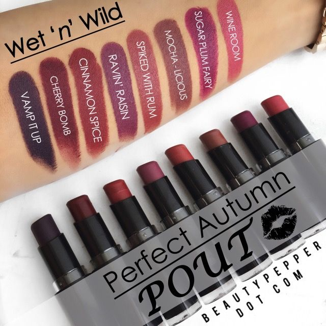 Fall is around the corner! Check out Wet n Wild's Mega Last Lip Color and these beautiful trendy Fall shades~ MATTE✔️, QUALITY✔️& PRICE✔️. Each lipstick for $1.99 at www.beautypepper.com