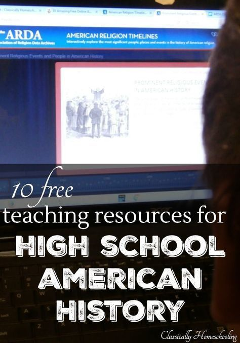 10 Amazing free teaching resources for high school American history. Some of these sources would be appropriate even if you teach in a special education classroom. Read more at: http://classicallyhomeschooling.com/free-teaching-resources/