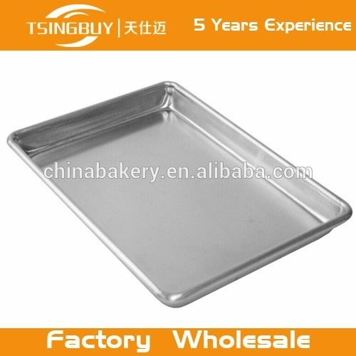 "Heavy Duty Aluminum Bakeware Half Sheet Baking Pan, 18"" x 13"" x 1"""