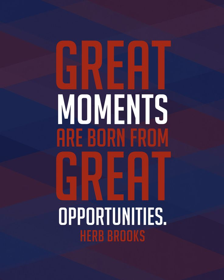 Herb Brooks Team USA Inspirational Great Moments Quote Poster Print. https://...