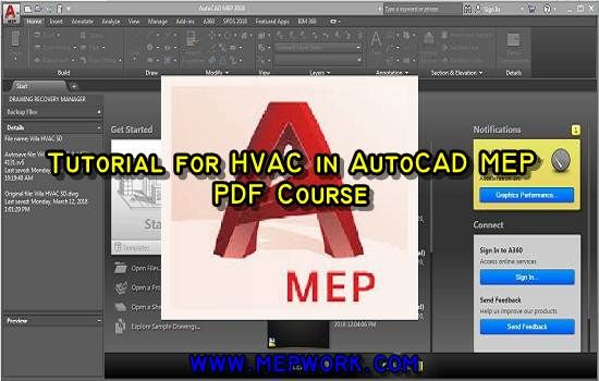 Tutorial for HVAC in AutoCAD MEP - PDF Course | AutoCAD MEP
