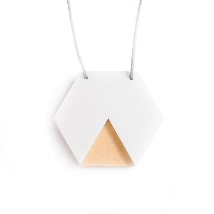 Amindy  - GEO - Hexagon Necklace - White and Ply - $30 - Shop online at www.amindy.com.au