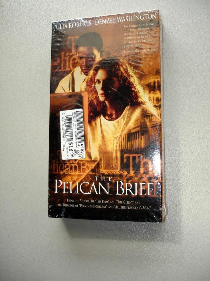 The Pelican Brief_ Sealed VHS Movie 0790721686 Julia Robets & Denzel Washington