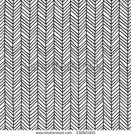 Seamless abstract hand drawn pattern. Black and white. Vector illustration