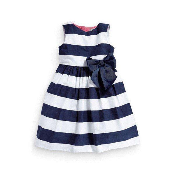 Baby Kids Girls Summer Striped Dress Toddler Summer Sleeveless Sundress Dresses