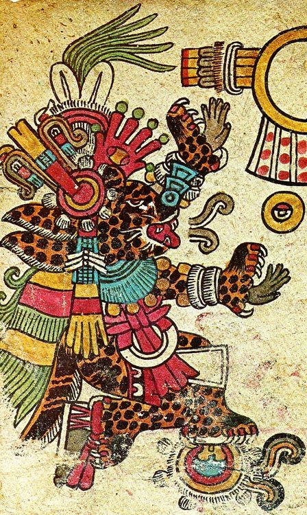 "Tezcatlipoca - The Mirror That Smokes  Anxiety and trouble follow in his wake. He is also known as Titlacahuan, ""He Whose Slaves We Are."" He was the warrior god of the north and the god of sin and misery with an obsidian knife. In Toltec mythology he was the adversary of his brother Quetzalcoatl.:"