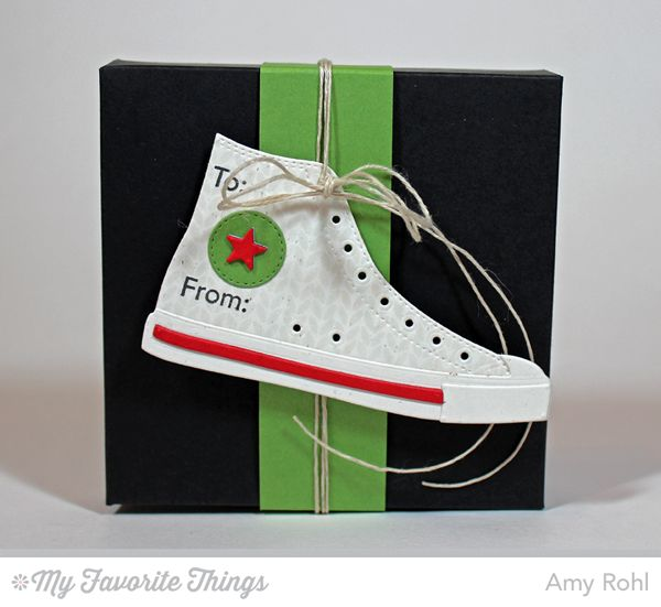 Gifting Fun, Nordic Knits, All-Star High Top Die-namics - Amy Rohl #mftstamps
