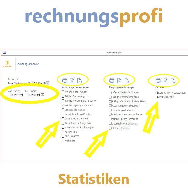 Rechnungsprofi Statistiken Rechnung Buchhaltung Statistik