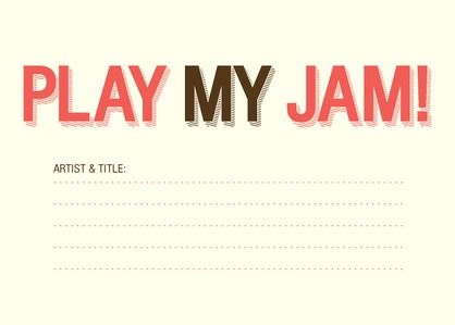 Play My Jam - Signature White Enclosure Cards - Magnolia Press - Bay - Green : Front
