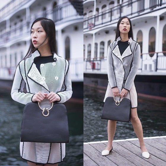 Stylemoi White Fishnet Coat