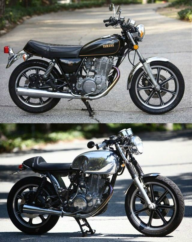 #Cafe #Racer #Yamaha SR500 - Before and After - Imgur