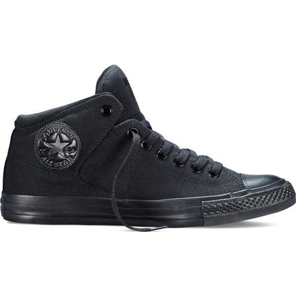 all black converse mid tops