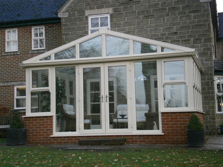 Gable fronted UPVC Conservatory installed in Derbyshire