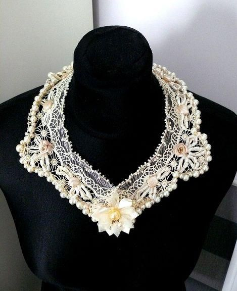 Beaded bridal necklace