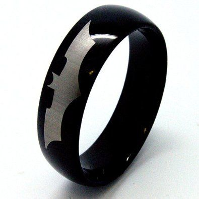 Tungsten Batman ring - HOLY CRAP AWESOME!