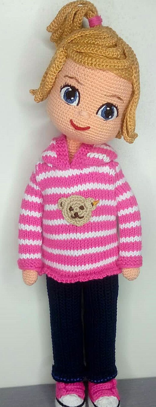 27 Taking Attention Amigurumi Doll Pattern Ideas. Crochet Girl Toy With Pink Sweater. Web Page 27