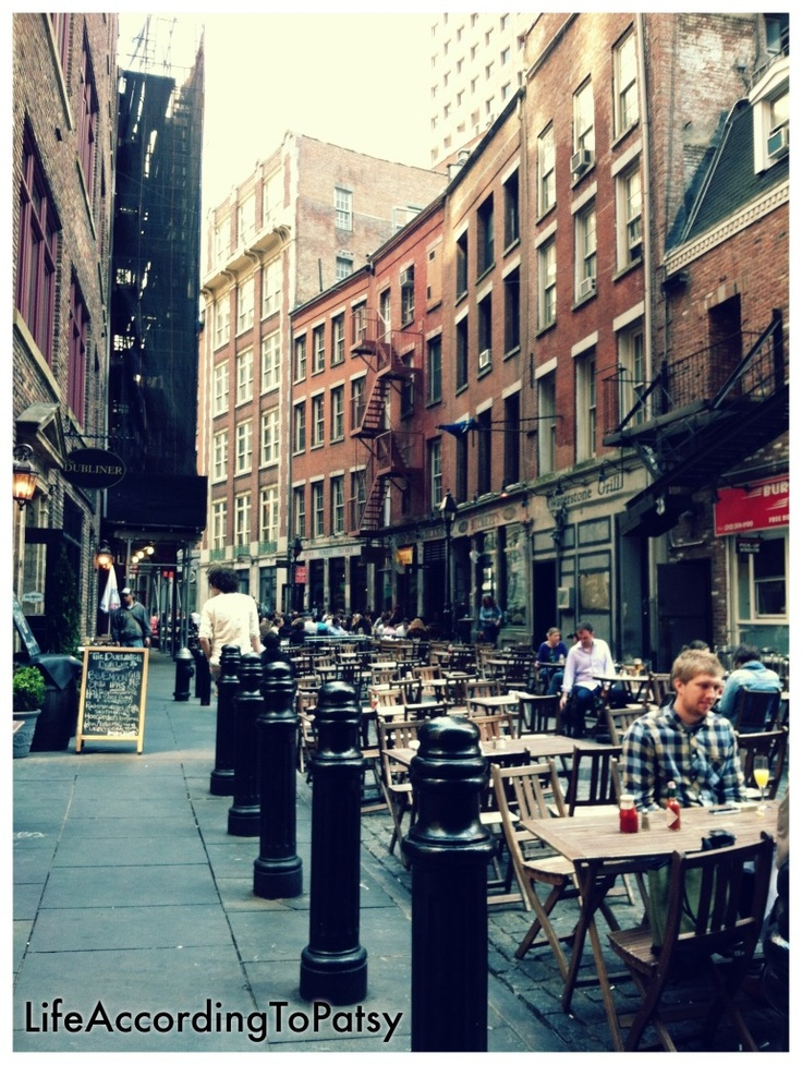 Stone Street, NYC: Favorite Places, Missing Home, Engagement Party