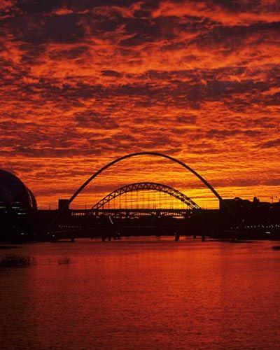 River Tyne sunset, UK
