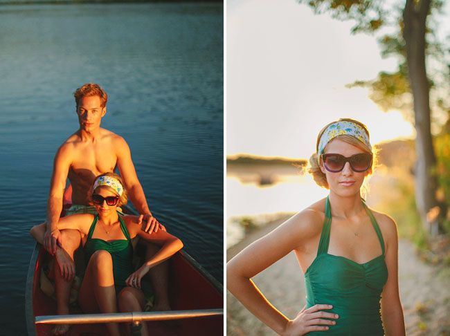 emerald green bathing suit