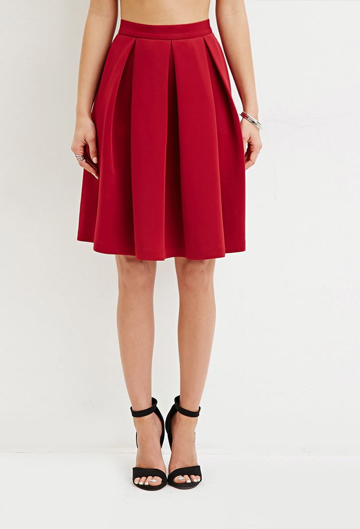 box pleat a line skirt forever 21 canada chic feminine