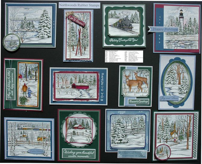 Rubber Stamp Card Making Ideas Part - 33: Northwoods Stamps Available @ For Keeps Sake - St.
