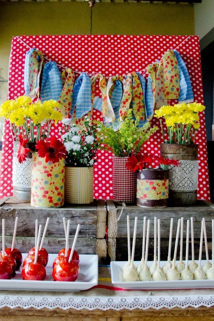 55 best ideas para decorar mesas de postres en fiestas - Decorar mesas para fiestas ...