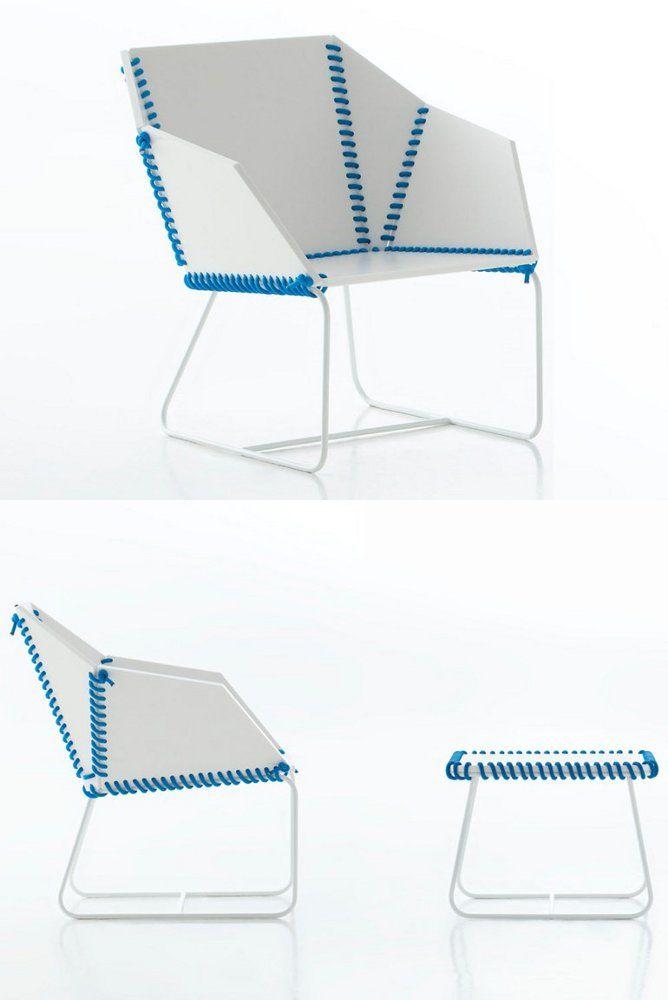Sled base polyethylene #garden #armchair TEXTILE by GANDIA BLASCO   #design Ana Llobet @GANDIABLASCO