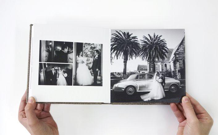 Queensberry Copy Albums   7x7 Copy Album   Contemporary Leather Sandstone   Photos by Evoke Photography   Australia   #queensberryalbums