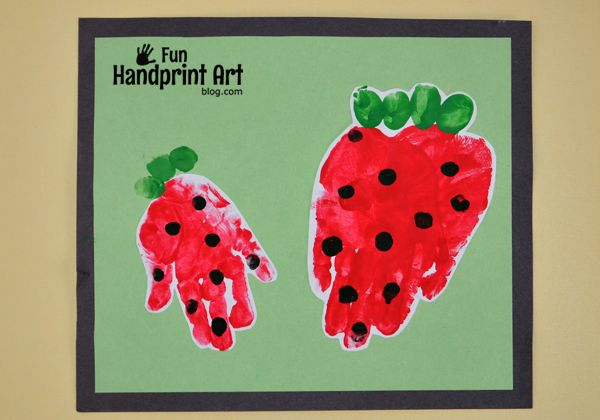 Berry Sweet Handprint Strawberry Craft for Kids