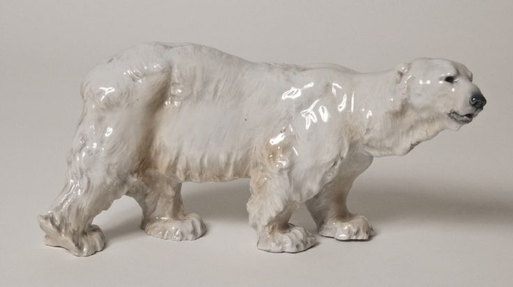 Figurine, Polar bear [...] | Porzellan-Manufaktur Meissen (Production) and Otto Jarl (Design) | ca. 1904 | Nationalmuseum, Sweden | CC BY-SA