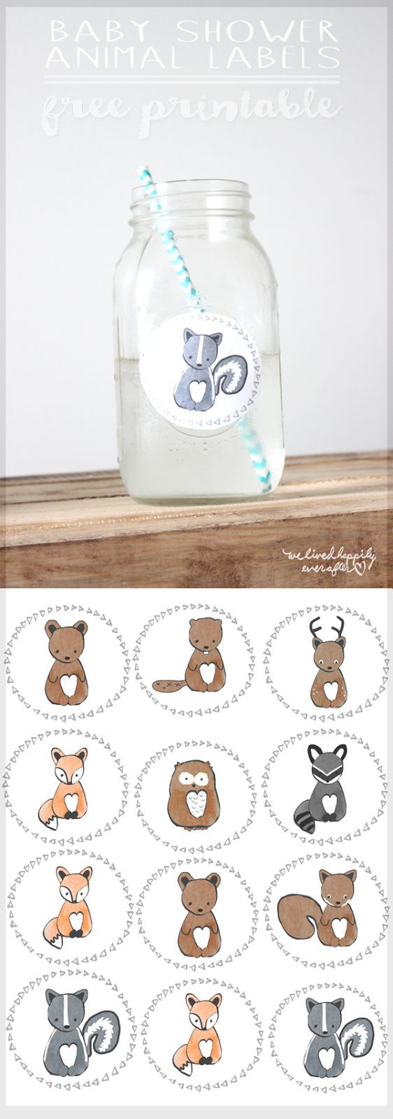 FREE printable Woodland Animal Labels
