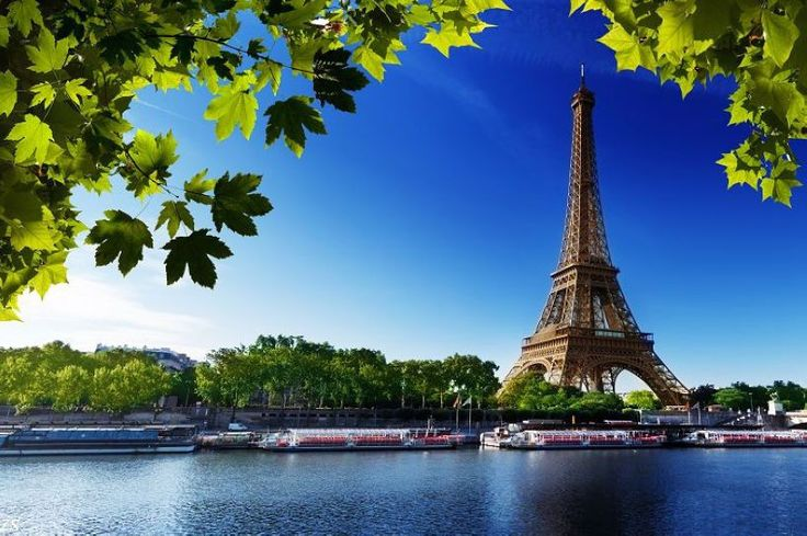 "$18.19 for a Paris Eiffel Tower Landscape Nice Silk Fabric Cloth Wall Poster Print 36x24"""
