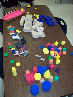 100th day idea  Put 100 items on each table  kids work together to create something