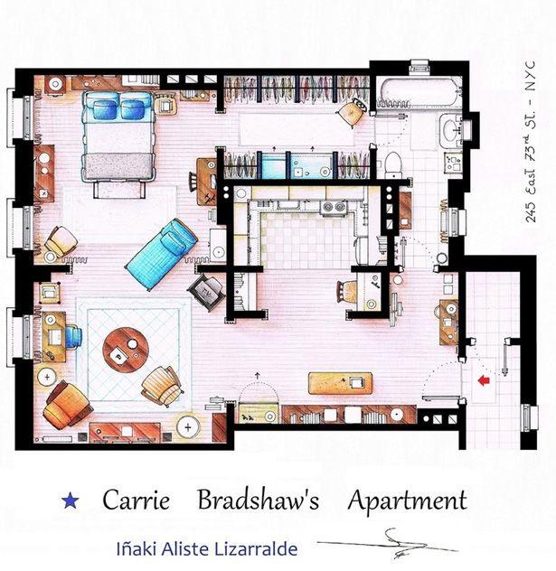 Carries apartment floor plan.