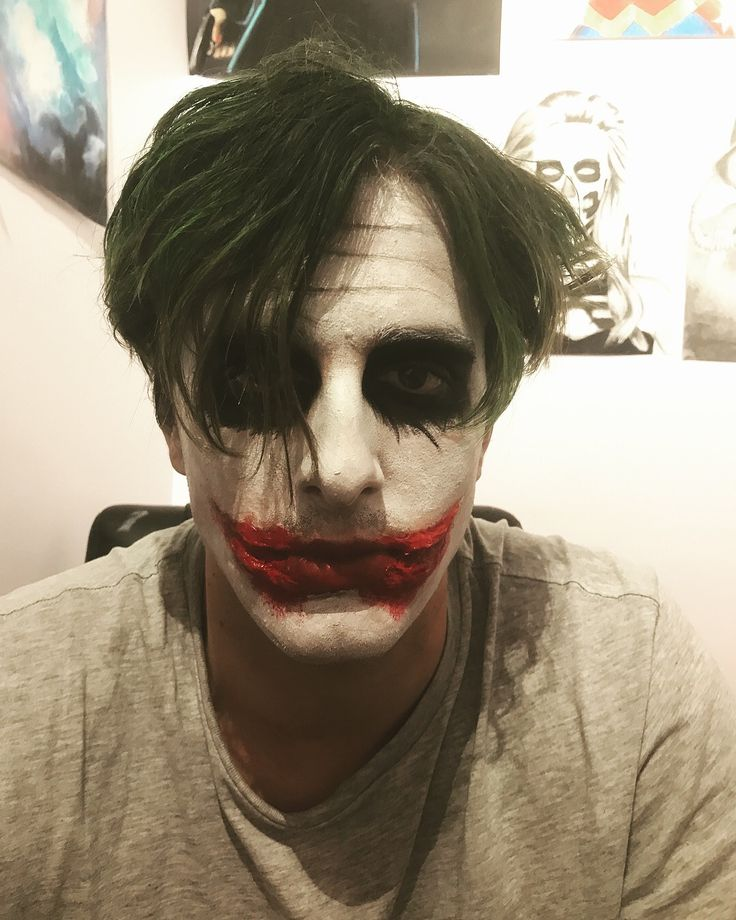 Joker makeup || face-paint, latex, and coloured hairspray || by Ashleigh Hunter