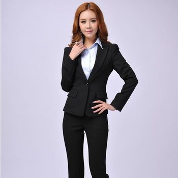 Perfect Pant Suits Women Business Formal Office Uniform Style New 2016 Elegant