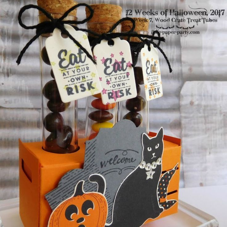 Stampin' Up!® Demonstrator Karen Robinson | 12 Weeks of Halloween – Week 7 This week I'm showing off the Treat Tubes in the Holiday Catalogue. These are a fun way to give all sorts of little …